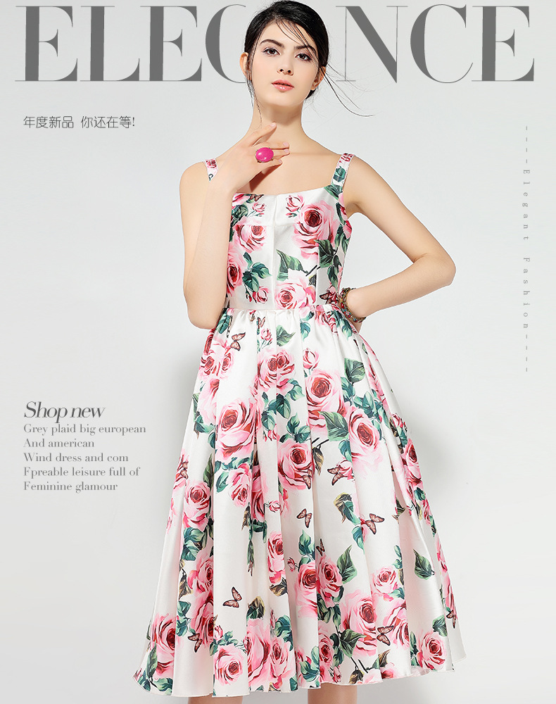 f314f27df7 2018 summer dress women s party beach sea long white printed red ...