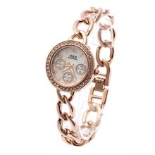 Relogio Feminino G&D Women Quartz Wristwatches Rose Gold Stainless Steel Rhinestone Fashion Luxury Womens Dress Watch Gifts