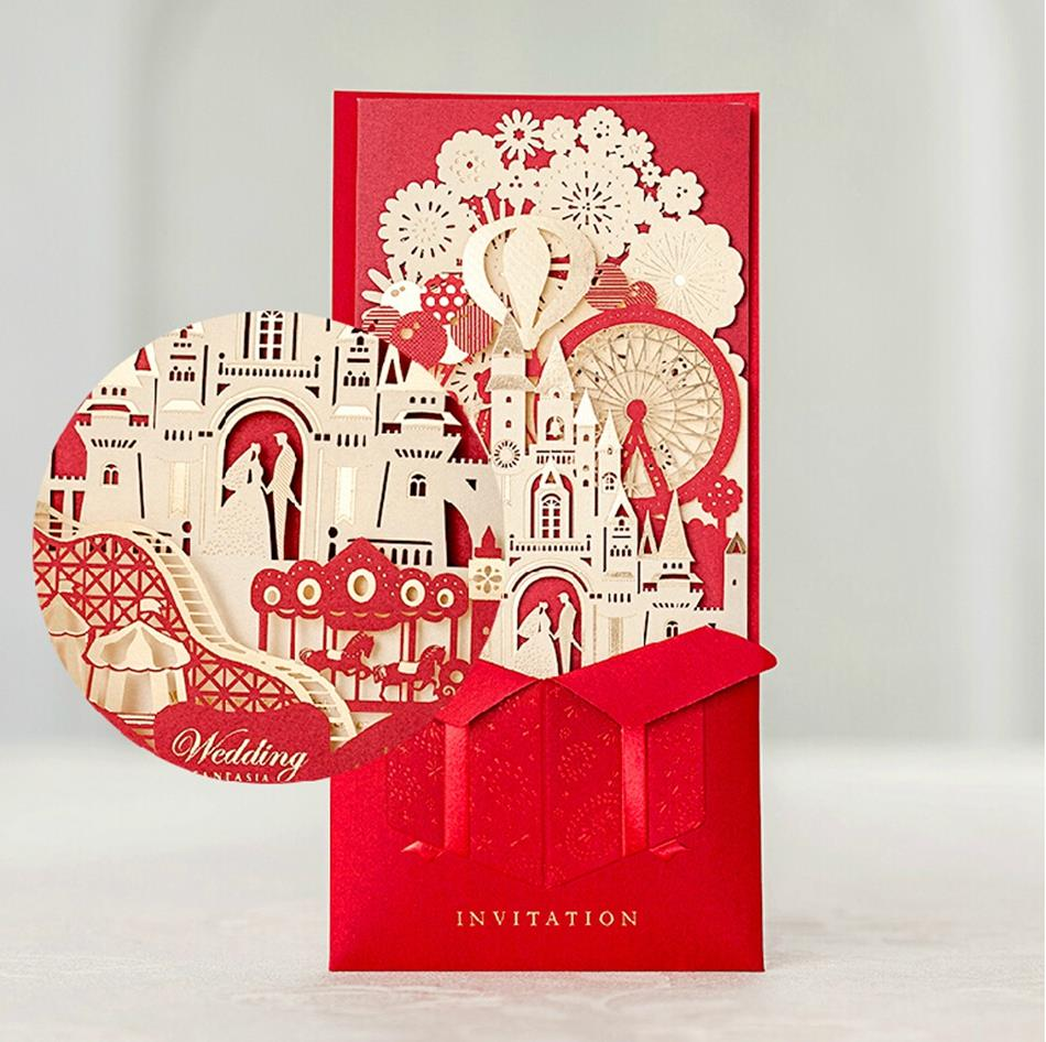 Fantastic Laser Cut Wedding Invitation Card Customized Printing 5073 ...