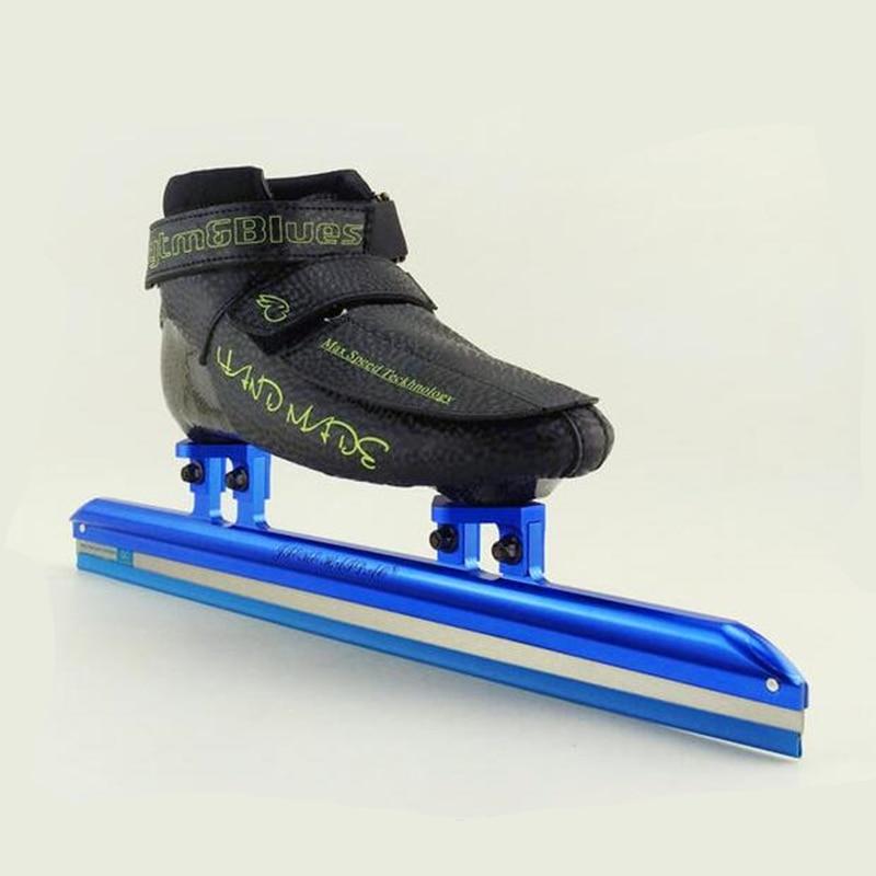 Профессиональные короткие дорожки ледовые лезвия Встроенные коньки для взрослых скорость конькобежный спорт, 7075 сплав 150 мм 165 мм Рамка Hyper