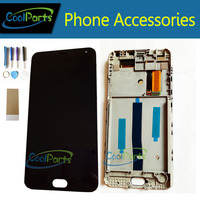 Black Color High Quality For MEIZU M2 Note LCD Display And Touch Screen Digitizer With Frame