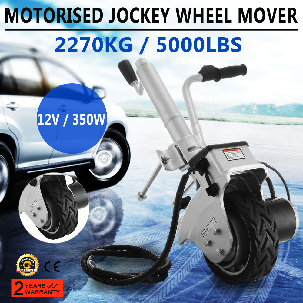Electric Trailer Dolly >> Us 187 91 6 Off Trailer Jockey Wheel 12v 350w Trailer Dolly Electric Mini Mover Jockey Wheel With Pneumatic Tires Trailer In Power Tool Accessories