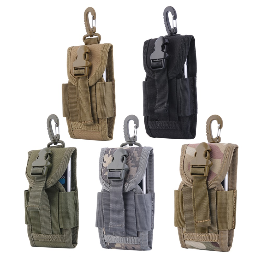 4.5 Inch Universal Army Tactical Bag For Mobile Phone Hook Cover Pouch Case Hot Sale Molle Belt Cell Phone Pouches Waist Bag