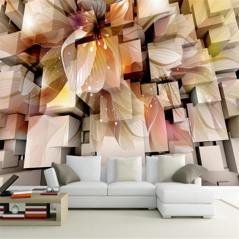 custom large modern 3D photo high quality non-woven wallpaper fantasy flowers living room tv sofa background mural wallpaper living room tv background wallpaper modern black and white flowers 3d home furnishings pure color non woven wallpaper n4