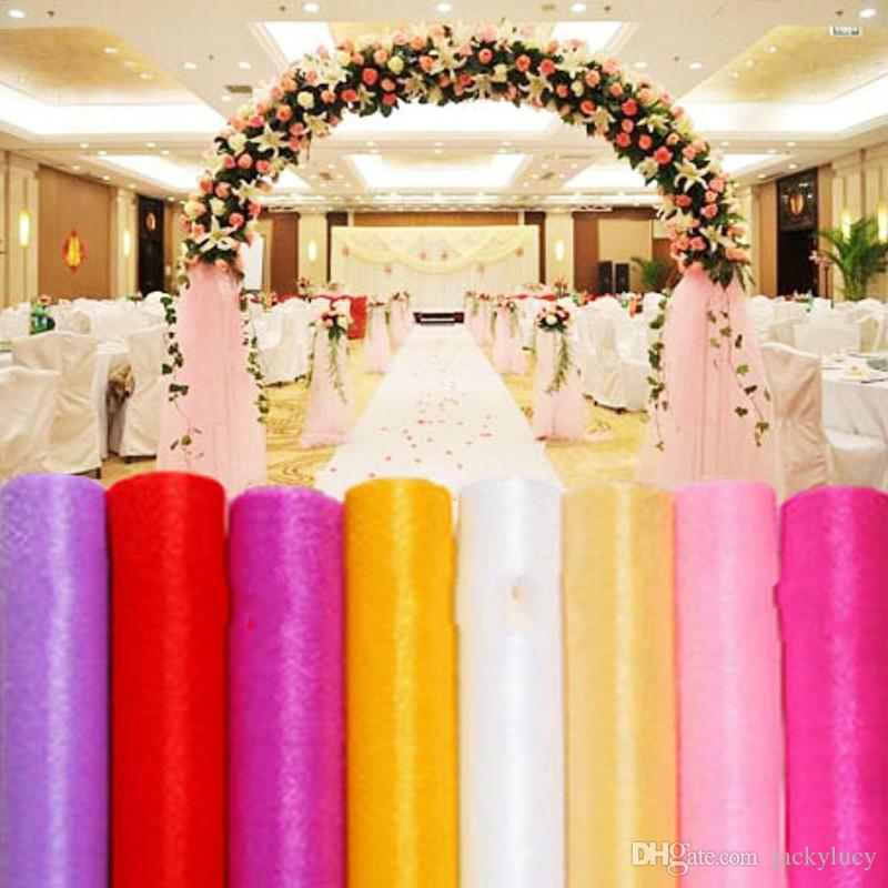 27 colors ribbon roll organza tulle yarn chair covers accessories 27 colors ribbon roll organza tulle yarn chair covers accessories for wedding backdrop curtain decorations supplies 50m in party diy decorations from home junglespirit Image collections