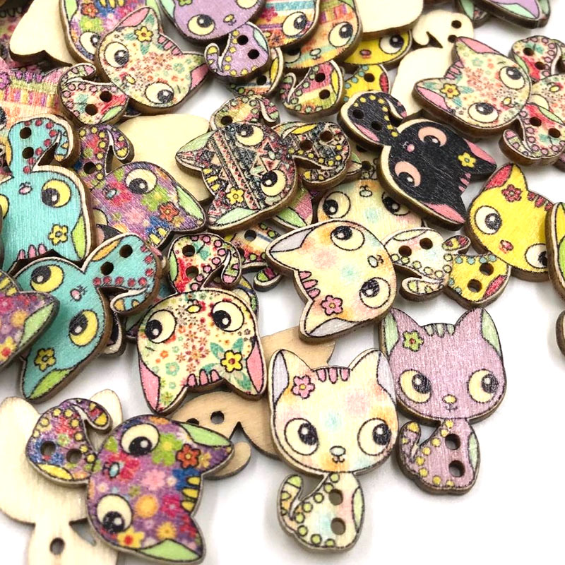 10//50//100pcs Owl Plastic Button Sewing Buttons Craft 18mm