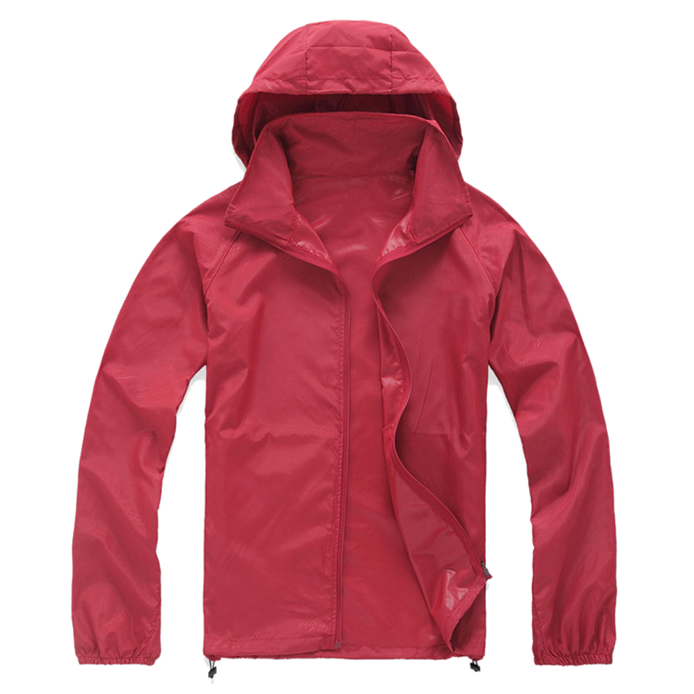 Super sell Outdoor Unisex Cycling Running Waterproof Windproof Jacket Rain Coat -Red,XS