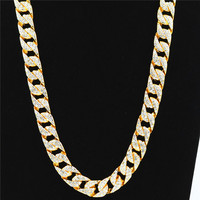 Uodesign Iced Out Hip Hop Jewelry Cz Gold Chain Necklace Mens Miami Cuban High Quality Fashion Design Men Women