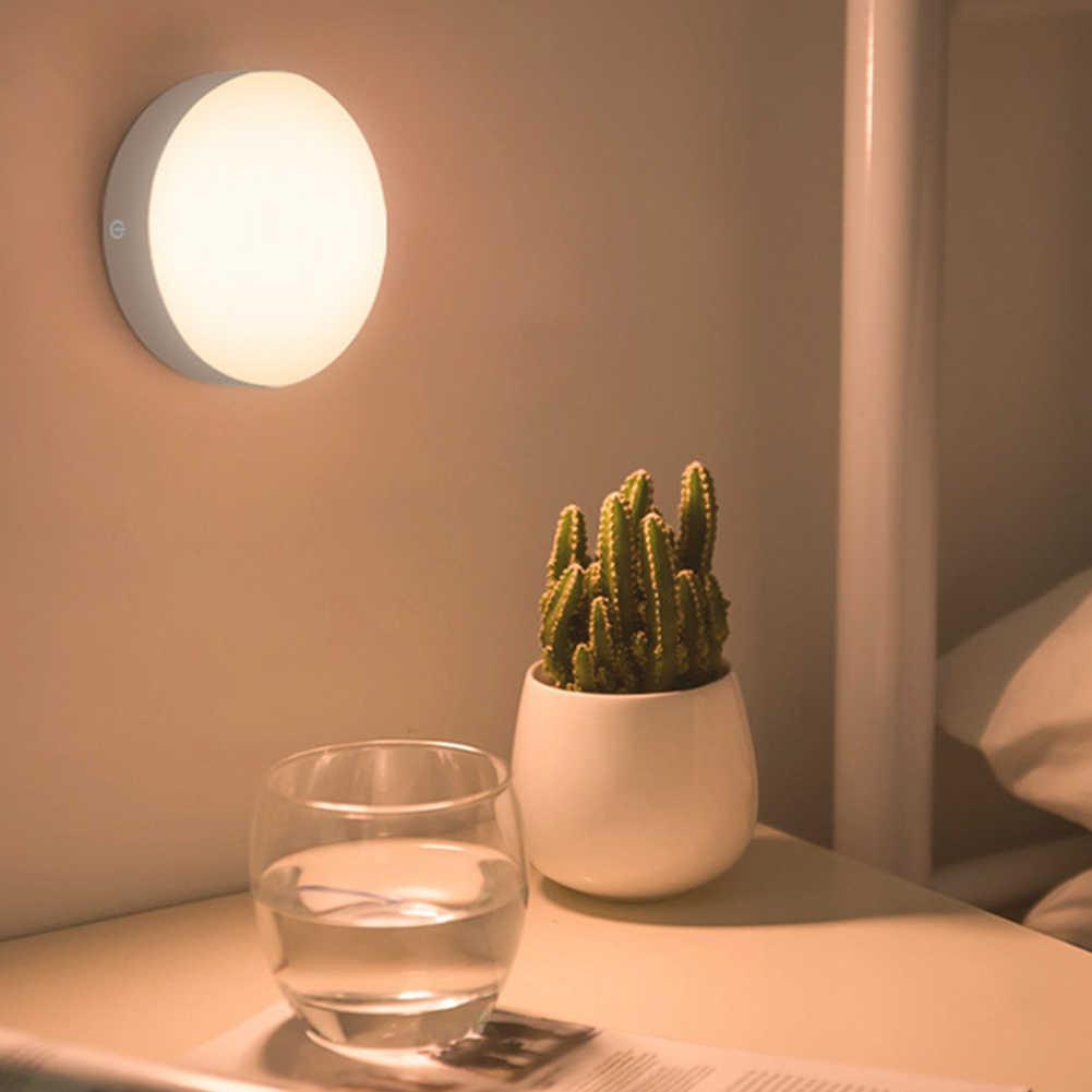 自動磁気ベースの Usb 充電式ナイトライト粘着 Led 屋内装飾廊下ランプ ABS 寝室モーションセンサーポータブル