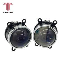 TAOCHIS автомобиль-Стайлинг 3,0 противотуманная фара Bi-xenon объектив проектора Bule стекло модернизации Foglight для SUBARU CITROEN DACIA FORD PEUGEOT OPEL
