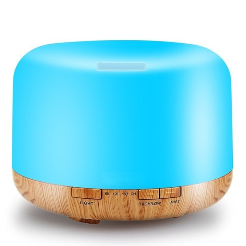 Colorful LED Light Aroma Diffuser 500ML Remote Control Essential Oil Ultrasonic Aromatherapy Air Humidifier