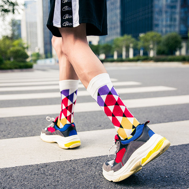 Socks men's quality long cotton socks fruit series happy socks Harajuku men's factory direct support wholesale and retail