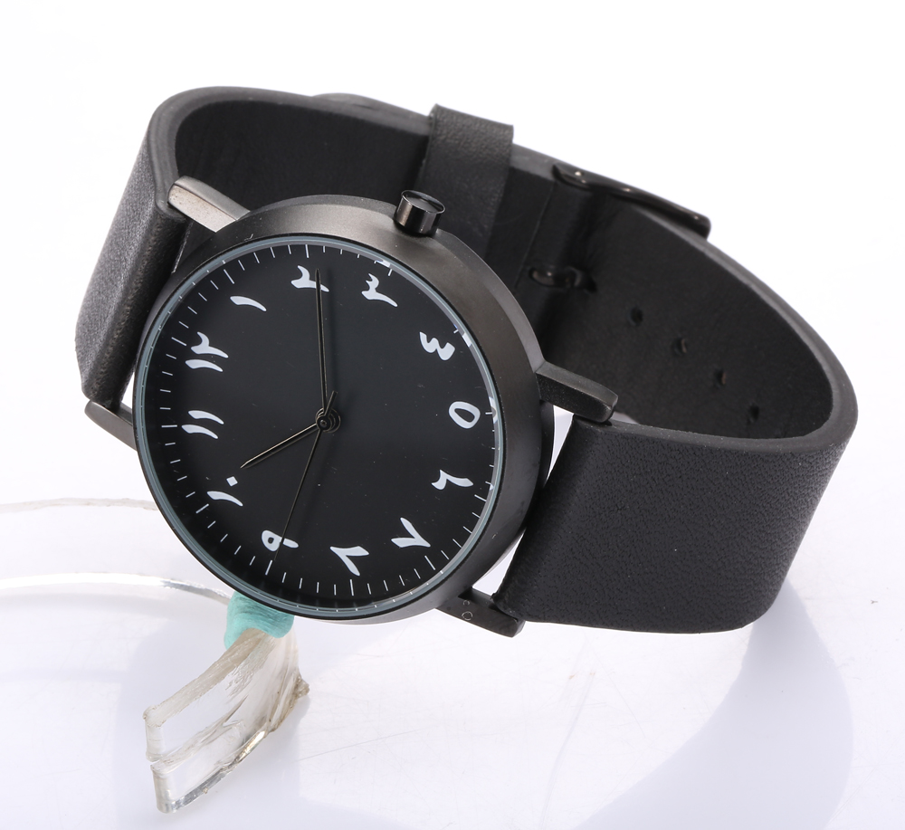men s watches minimalist design face Arabian montre 100 genuine leather strap