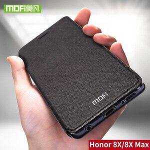 Image 1 - עבור Huawei Honor 8X מקרה עבור Huawei 8X מקסימום מקרה כיסוי סיליקון יוקרה Flip עור Mofi עבור Huawei Honor 8X מקרה 360 עמיד הלם
