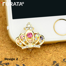 Lovely Crown Mobile phone Anti-dust plug 3.5mm Audio Earphon