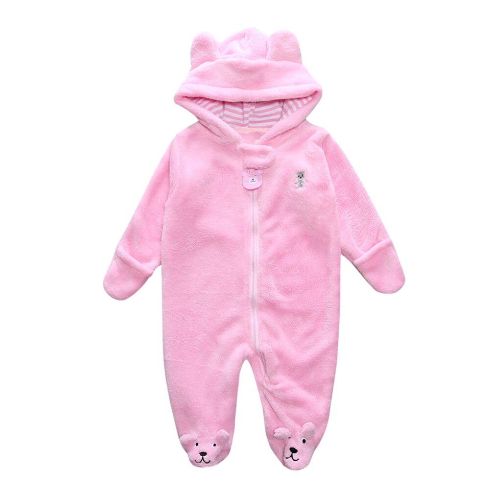 Autumn Winter Baby Boy Rompers Cartoon Coral Velvet Warm Hoodies Girls Newborn Bebe Jumpsuit Cute Clothes Kids Snowsuit
