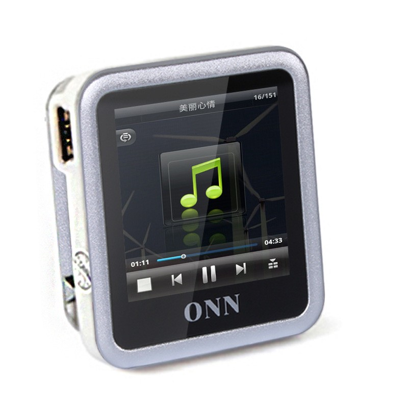 onn Q6 sports Small clip with 4GB mp3 player and the recording player