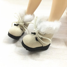 BEIOUFENG 3.2CM Doll Shoes Snow Boots for Blythe Doll Toy,1/