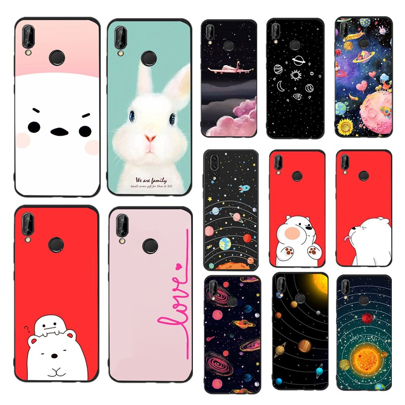 purchase cheap 17679 2340f TPU Case For Huawei P Smart Silicone Phone Cover For Huawei P9 Lite Mini P8  Lite Planet Back Shells Bags
