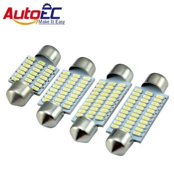 AutoEC 100x Car led Festoon C5W 3014 31/36/39/41mm 21smd 27smd 30smd 33smd Interior Dome Lights License Plate Light 12V #LK122