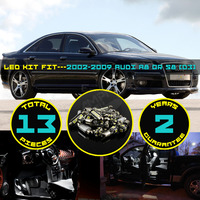 13x Canbus LED Car Interior Roof Dome Map Reading Package Light Kit Xenon White Warm White