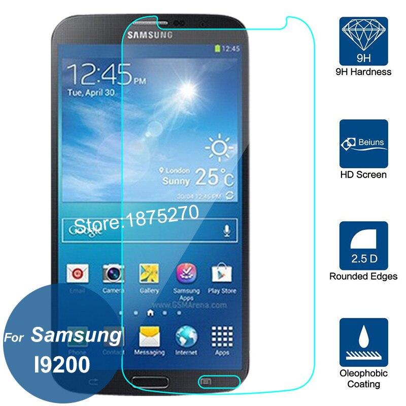 Для Samsung Galaxy Mega 6.3 GT-i9200 2.5D Закаленное Стекло Экрана Протектор 9 H Безопасности Защитную Пленку На i9205 i527 L600 6.3 дюймов