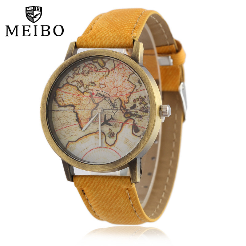 MEIBO Men's Fashion Watch Barnd Watches for women Casual Denim Leather Band Women's Watches 7Colors relogio masculino relojes