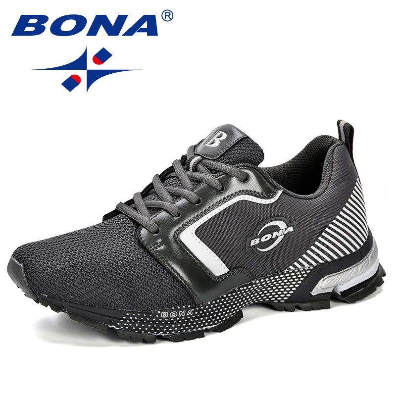 BONA New Arrival Men 2018 Spring Autumn Fashion Casual Breathable Comfortable Walking Male Hombre Mesh Air Flat Shoes Trendy