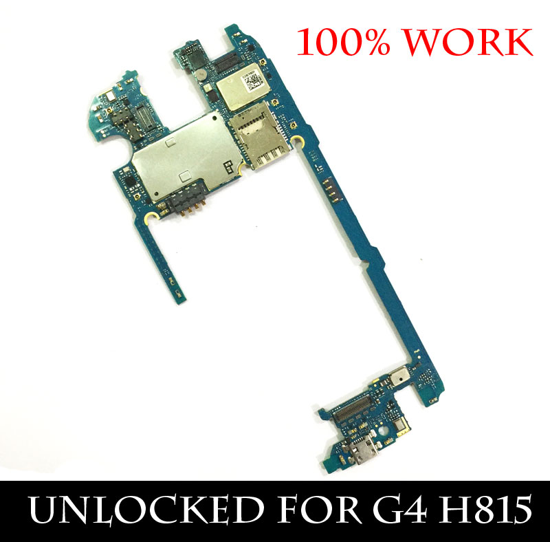 Ymitn Unlocked For G4 Boards Mobile Electronic Panel Motherboard 32GB For LG G4 H815 International Edition Mainboard With OS 6.0