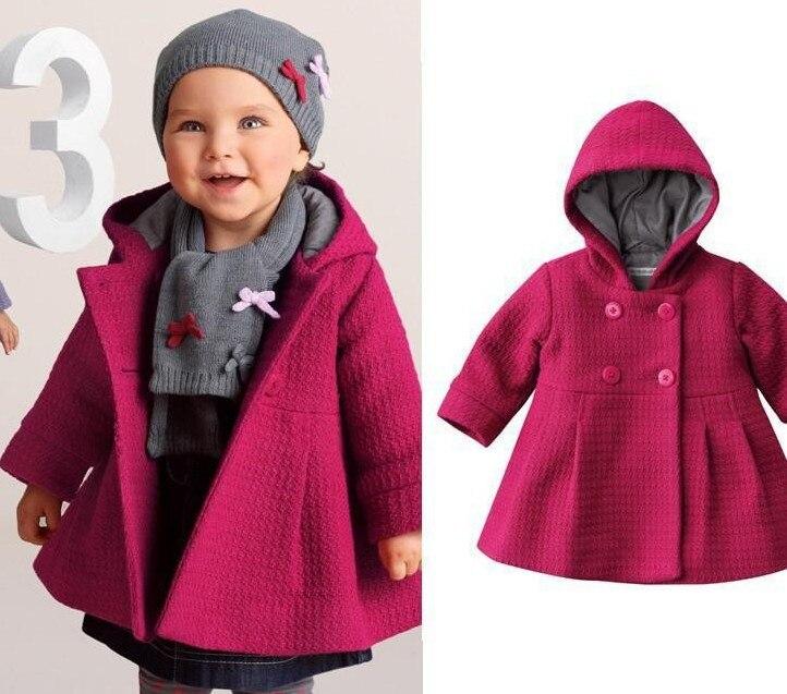 Laborioso Trasporto Libero Nuovo Cappotto Neonata Puro Rosa Caldo Di Inverno Dei Bambini Outwear Trench Moda Abbigliamento Per Bambini All'ingrosso E Al Dettaglio Vendendo Bene In Tutto Il Mondo