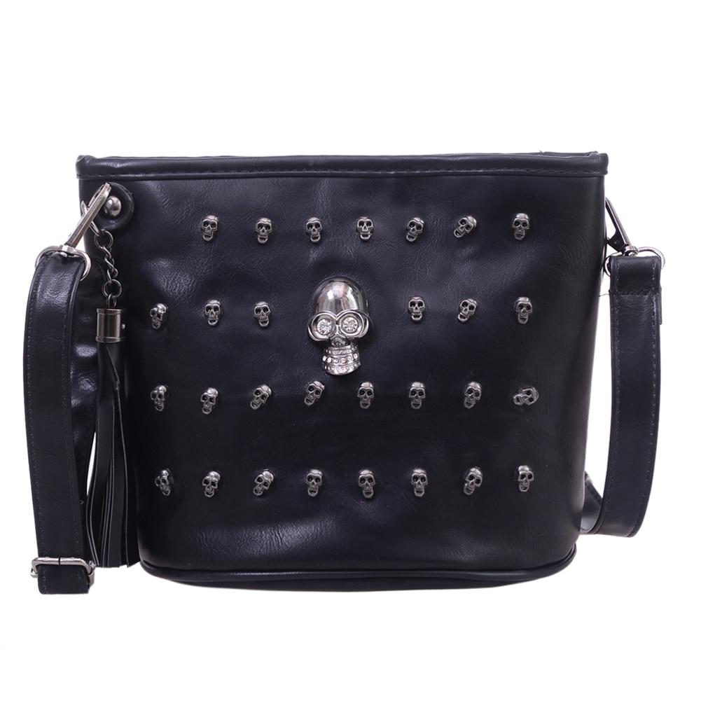 Diseño de calavera bolsos de mensajero para mujer bolsos de hombro bolso de mano para chica negro calavera bandolera Bolsas Borse Feminina