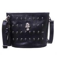 Schädel Design Frauen Messenger Taschen Handtaschen Schulter Taschen Satchel Kupplung Mädchen Schwarz Schädel Umhängetasche Bolsas Borse Feminina