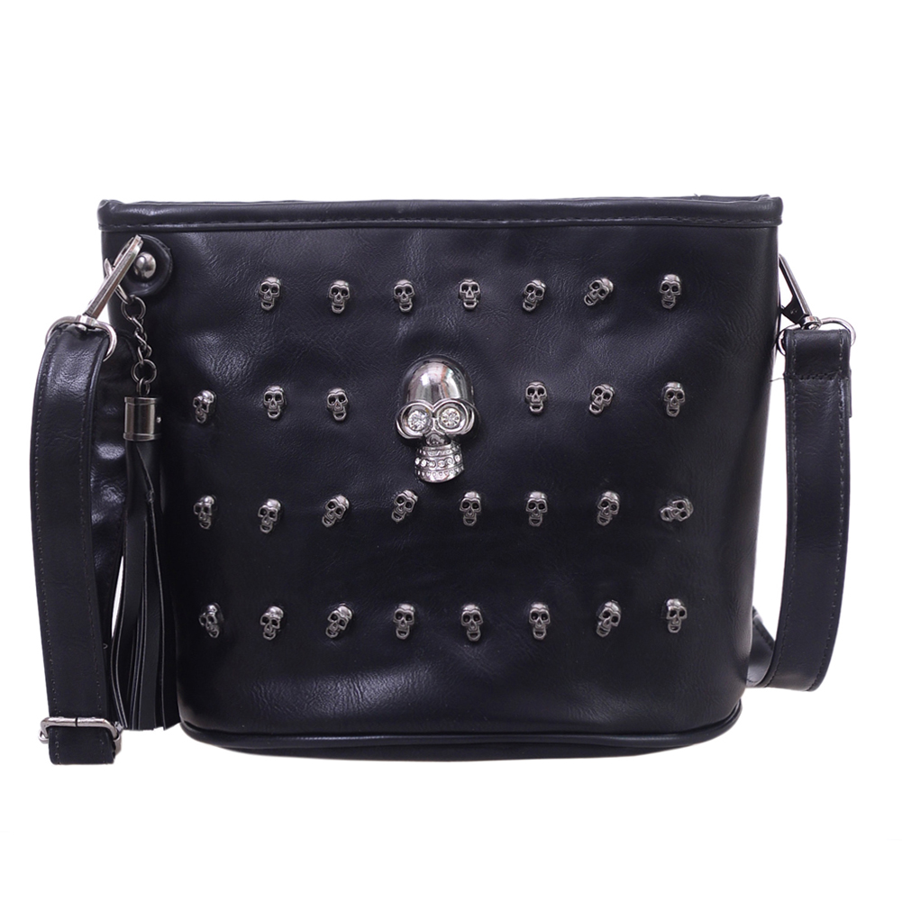 Skull Design Women Messenger Bags Handbags Shoulder Bags Satchel Clutch Girl Black Skull Crossbody Bag Bolsas Borse Feminina halloween skull printing women crossbody shoulder bag pu leather skull design women messenger bags handbag and purses