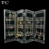 Clear Acrylic Jewelry Display Earring Pendant Holder Jewelry Organizer Earring Necklace Organizer Holds Up 128 Pairs