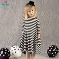 2016 New autumn girls dresses stripe kids dress children casual long sleeve dress children dresses girls