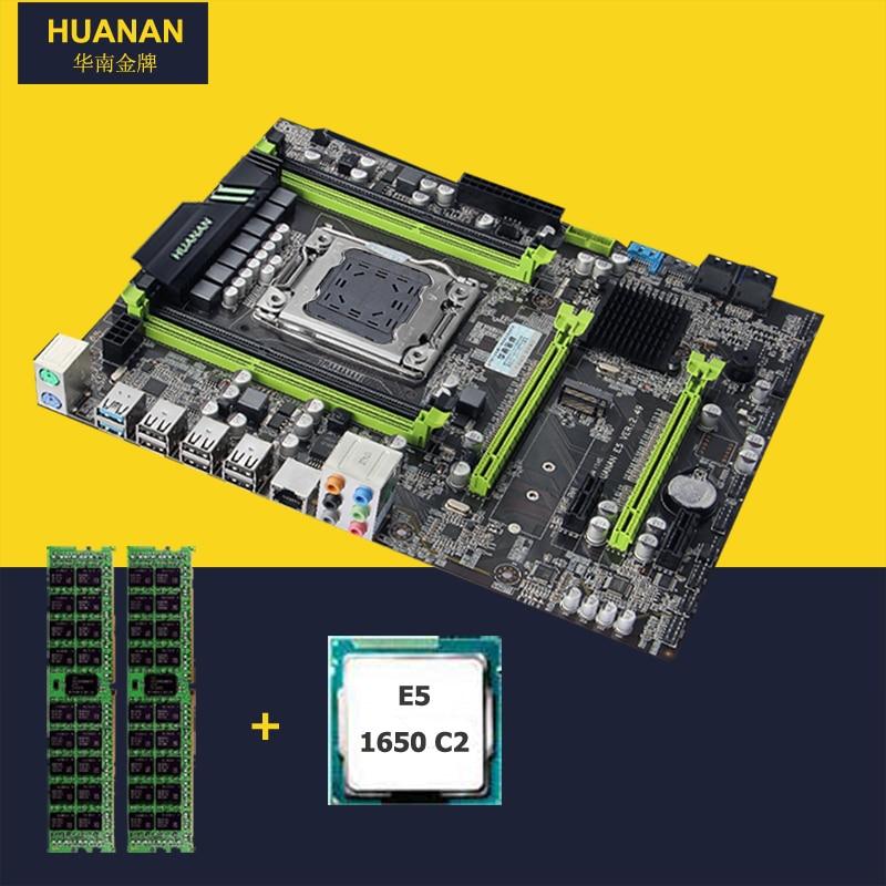 HUANAN V2.49 X79 carte mère CPU RAM combos Xeon E5 1650 C2 CPU (2*4G) 8G DDR3 RECC memorry tout bon testé 2 ans de garantie