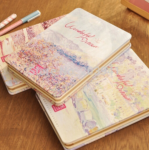 1pcs/lot  Good quality Vintage colorful notebook Wondful Dream series handmade Iron cover notebooks for school children 25 pcs lot death note notebooks cosplay ryuuku notebook and quill pen