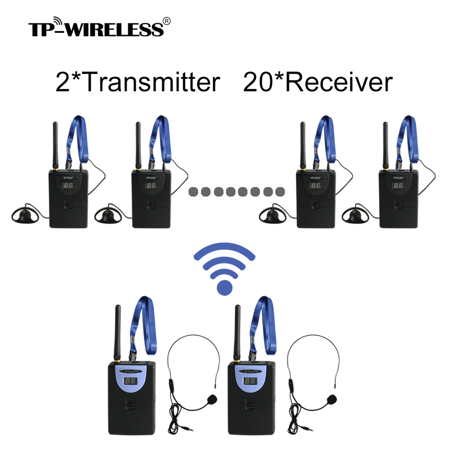 TP-WIRELESS 2.4G Tour Guide System Translation System Digital Audio Tour Guide System teach tourism 2 Transmitter + N Recceivers цена и фото