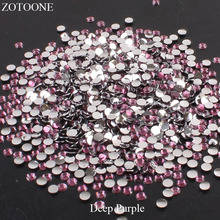 ZOTOONE FlatBack Resin Nail Art Non HotFix Deep purple Rhinestones Stones For Clothes Decorations DIY Strass Crystals Applique E