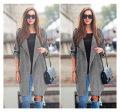 NEW Big Size 5XL Spring Autumn gary Trench Coat For Women 2016 Long Outwear Slim Women's Coat Open Stitch Windbreaker Women Coat