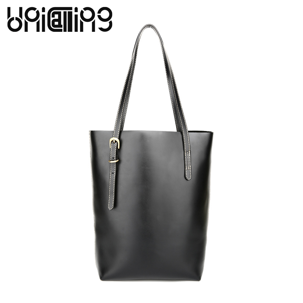 New style Genuine Leather women bag Leisure fashion brand Oil Wax Cowhide Large capacity shoulder bags for girls big handbags new 2017 fashion brand genuine leather women handbag europe and america oil wax leather shoulder bag casual women