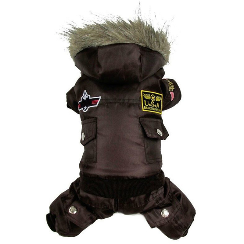 High Qulaity Dog Puppy Winter Jacket Coat USA LUFTFORCE - Pet produkter - Foto 4
