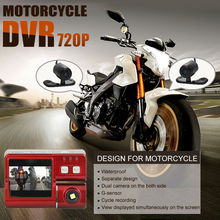 2015 new motobycle only  waterproof motorcycle support camera 720p  DVR with dual cameras
