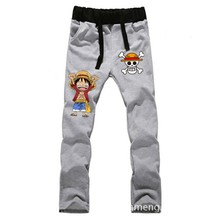 Anime  One Piece Monkey D Luffy LOVERS pure cotton pants sports casual trousers cosplay gift NEW Fashion