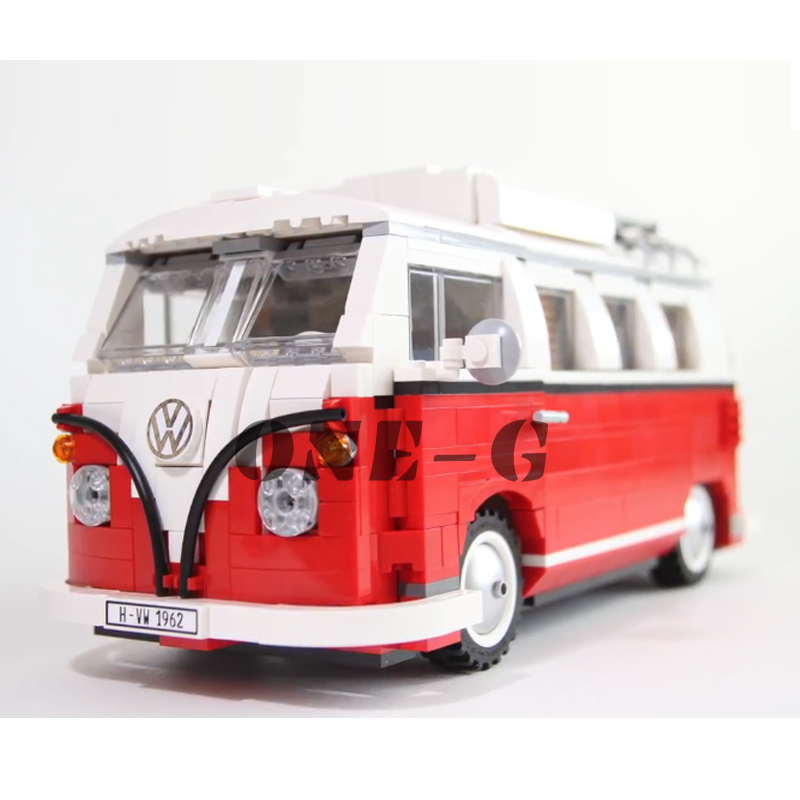 Compatible with Creative 10220 Building blocks 21001 1354pcs Bricks Volkswagen T1 Camper Van Educational toys for