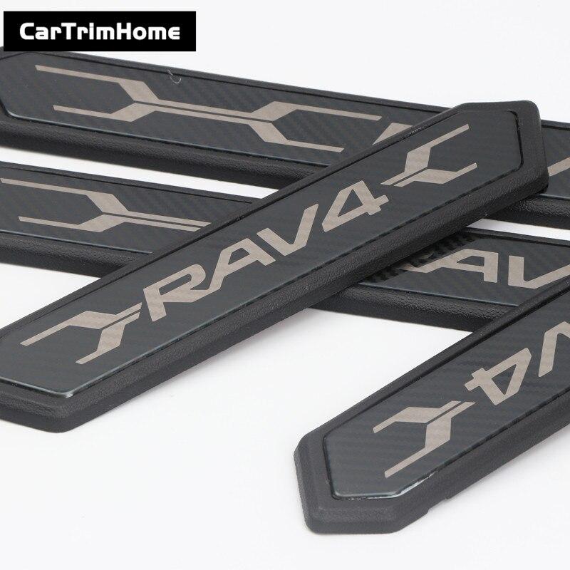 Accessoires Pour Toyota RAV4 2019 2020 4 pièces Plaque de Seuil de Porte Pédale Garnitures - 3
