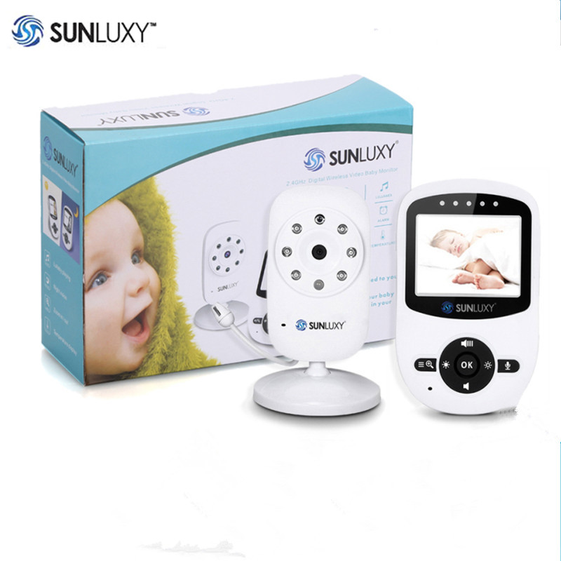 SUNLUXY 2.4'' Wireless Babycam Digital LCD 2.4GHz Baby Monitor Night Vision Audio Video Baby Security Camera Music Two Way Talk wireless lcd audio video baby monitor security camera baby monitor with camera 2 way talk night vision ir temperature monitoring