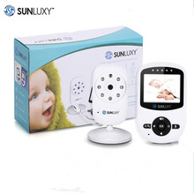 SUNLUXY 2.4'' Wireless Babycam Digital LCD 2.4GHz Baby Monitor Night Vision Audio Video Baby Security Camera Music Two Way Talk(China)