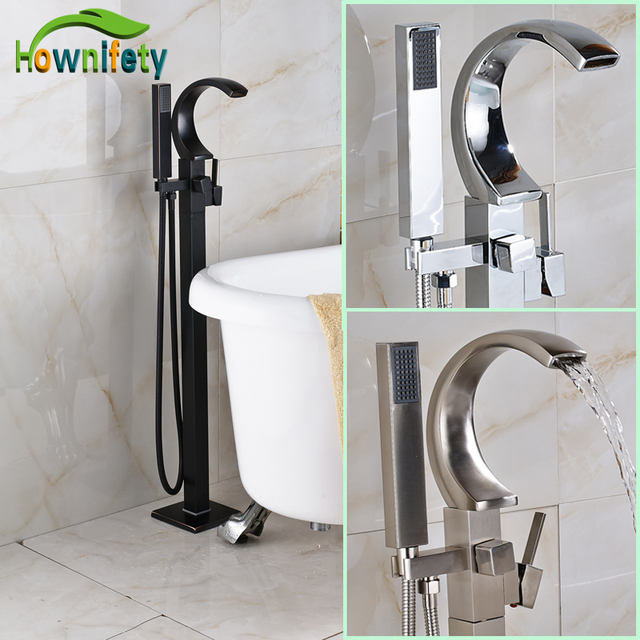 floor mount tub faucet oil rubbed bronze. Oil Rubbed Bronze Bathroom Tub Mixer Tap Floor Standing Bathtub Faucet with  Hand Shower Mounted