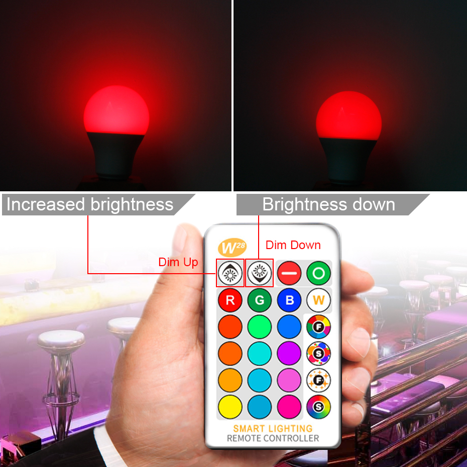 Image 5 - 110V 220V E27 RGB LED Bulb Lights 5W 10W 15W RGB Lampada Changeable Colorful RGBW LED Lamp With IR Remote Control+Memory Mode-in LED Bulbs & Tubes from Lights & Lighting
